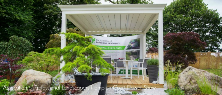 Link to page Association of Professional Landscapers Trade Stand at Hampton Court Flower Show