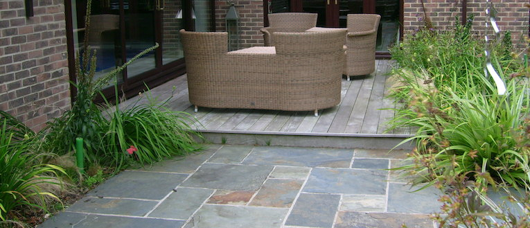 Link to page Picture of a paved terrace