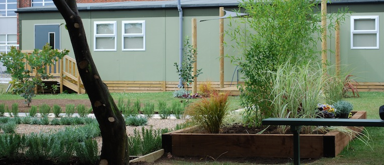 Link to page Picture of a school's garden by Garden House Design