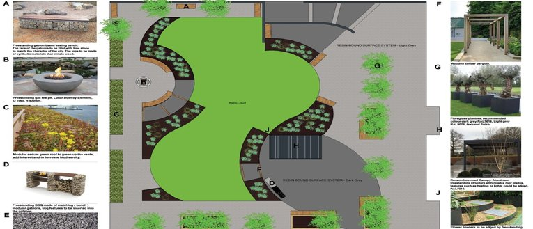 Link to page Commercial Communal Area Design with Planting and Hedges