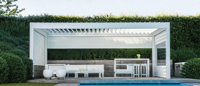 Link To Page Garden House Design Slider Image Link To Page Renson Algarve  Louvered Canopy ...