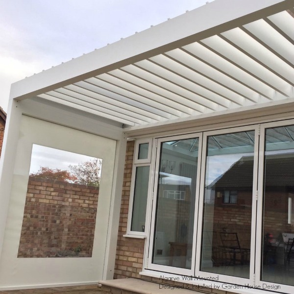 Algarve Louvered Roof Canopy over patio outdoors