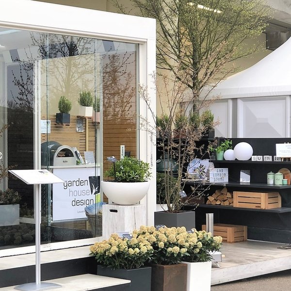 GHD trade stand at Ascot Spring Garden Show 2018