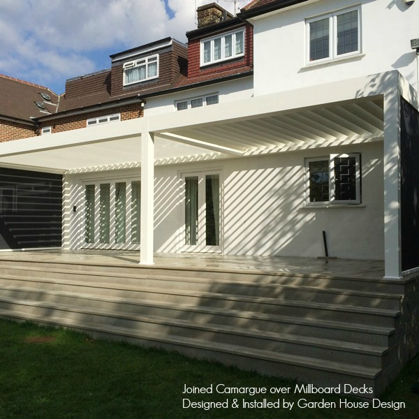 Renson Double Camargue and Millboard Decks by Garden House Design