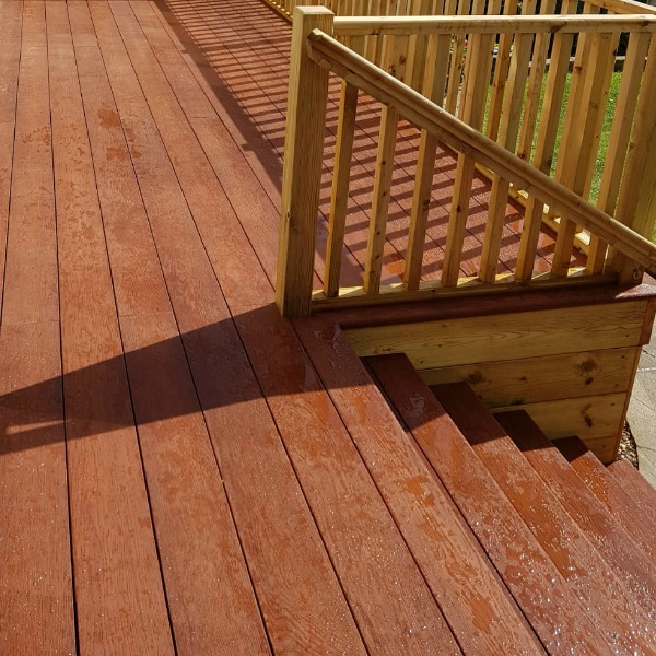 Millboard Composite Deck and steps in Jarrah