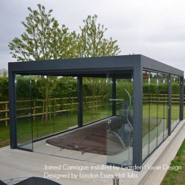 RENSON Camargue Canopy with Glass Sliding Doors