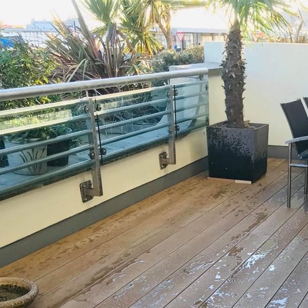 Millboard Decking in Golden Oak By Garden House Design