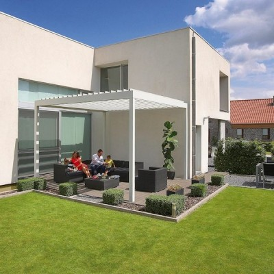 Renson Algarve attached off the house, fully utilising the outdoor space
