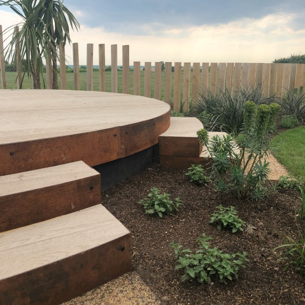 Millboard Smoked Oak Composite Decking Deck and Steps