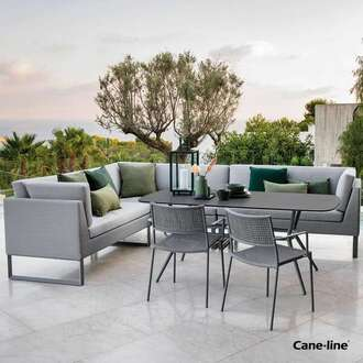 Cane-line sofas and chairs by Garden House Design
