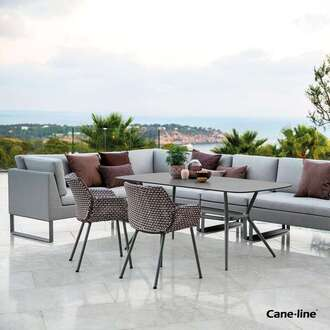 Cane-line sofa and chairs by Garden House Design