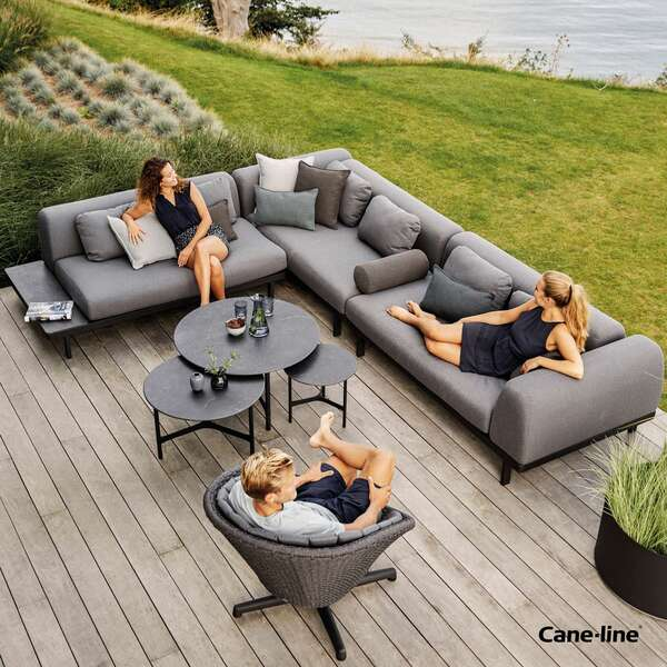 Cane-line outdoor sofa and seats by Garden House Design