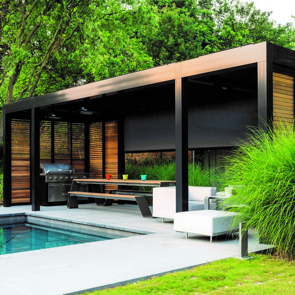 Louvered Roof Covers Portfolio Garden House Design
