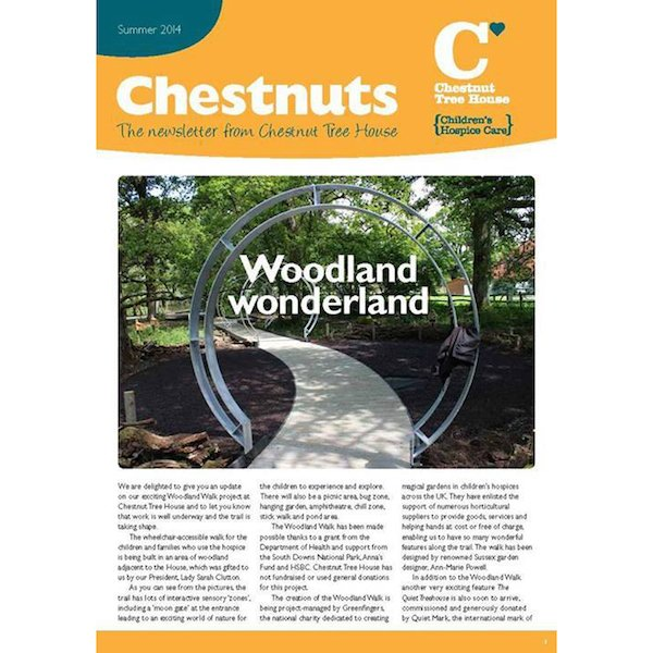 The Summer 2014 newsletter of Chestnut Tree House featuring the Woodland Wonderland!