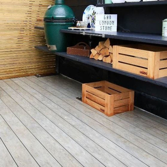 Raised deck area using Designboard Composite decking in Luna