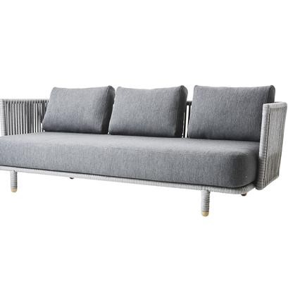 View Moments 3-Seater grey sofa details