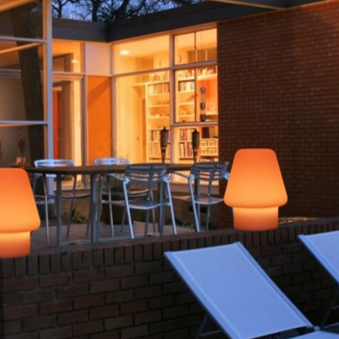 Outdoor LED Coloured Lamps For The Garden