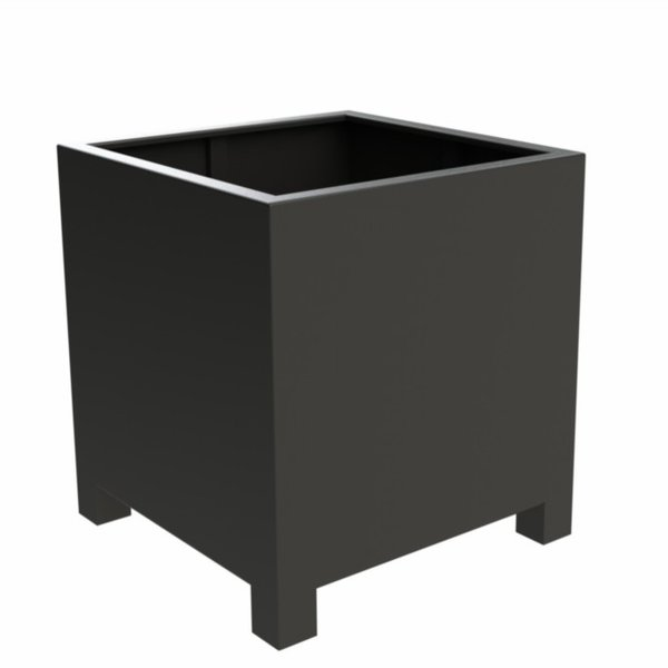 View Aluminium Cube Planter with legs details